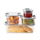Rubbermaid Brilliance 8-Piece Food Storage Container Set, Clear