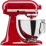 KitchenAid KSM96 Ultra Power Plus Tilt-Head Stand Mixer, Red, 4.5 qt