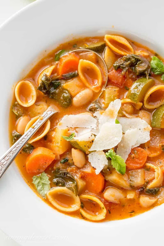 Winter Minestrone Soup - Saving Room for Dessert