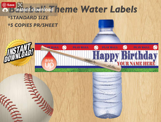 I will create a customized water bottle label