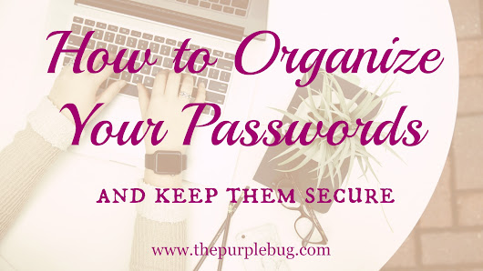 How to Organize Your Passwords and Keep Them Secure - The Purple Bug Project