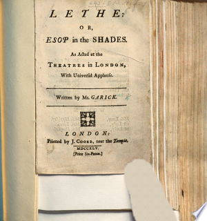 Download Lethe Or Esop In The Shades A Dramatic Satire In One