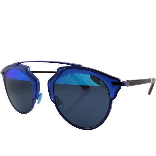 Dior Blue Round Sunglasses - So Real