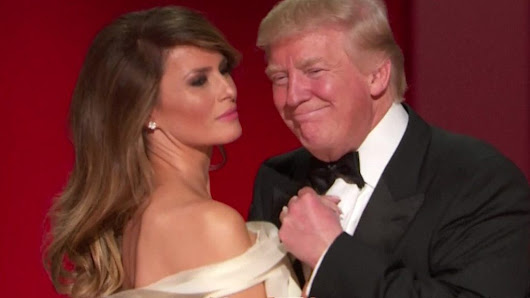 Presidential inaugural ball: Trumps enjoy first dance - BBC News