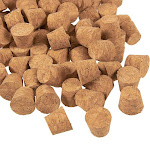 Small Cork Stoppers - 100-Pack Mini Cork Stoppers, Tapered Cork Bottle Plugs, Size 1