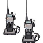 Ktaxon 2 Pcs BAOFENG UV-5XP 3000mAh 8W/5W/1W Long Range Walkie Talkie Free Earphone