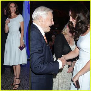Kate Middleton & David Attenborough Chat It Up at Natural History Museum