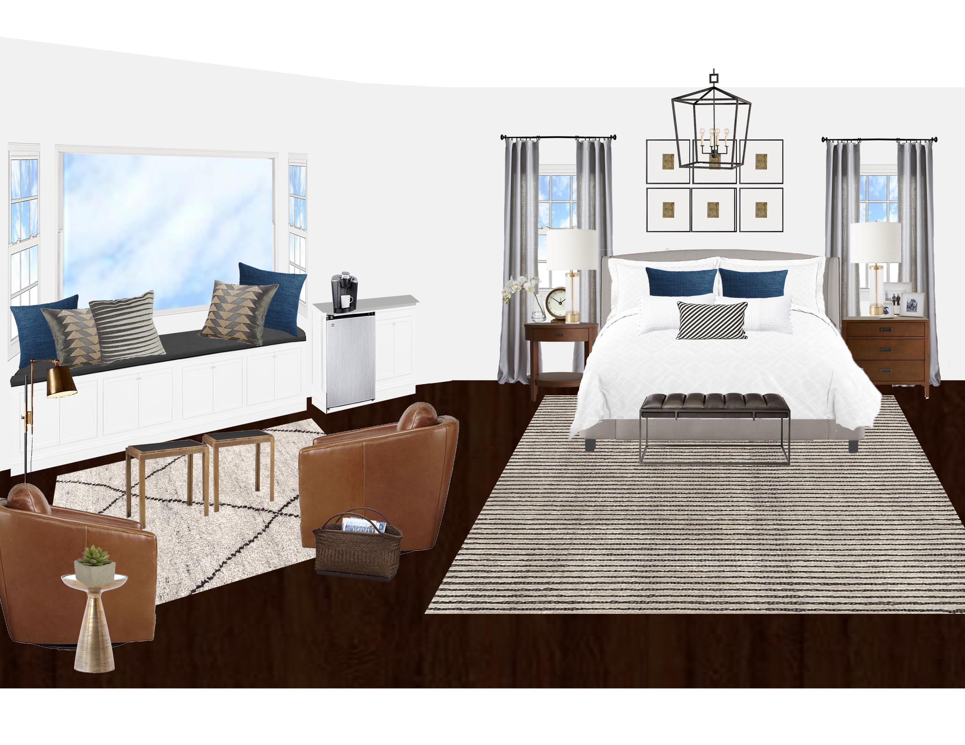 Transitional Master Bedroom - Virtual Interior ...