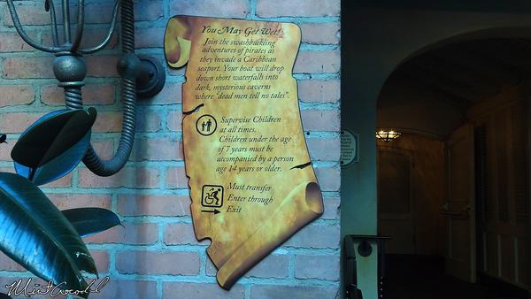 Disneyland Resort, Disneyland, New Orleans Square, Pirates of the Caribbean, Sign, 7 years, 14 year