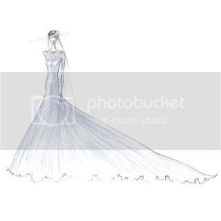Kate Middleton's Wedding Dress Sketches