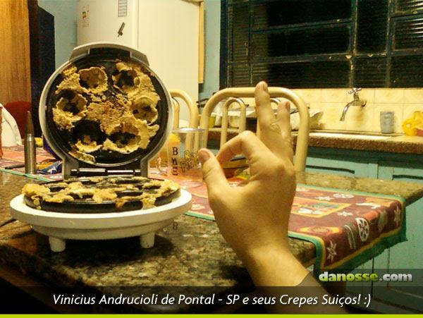 Vinicius Andrucioli e seus crepes suíços em Pontal - SP
