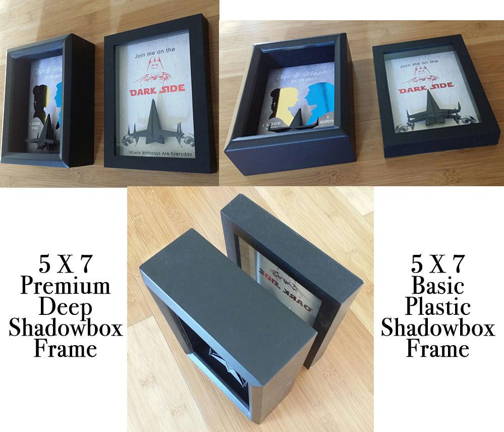 Star Wars Like Father Like Son Origami 3d Shadowbox Tomcatstudios