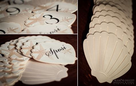 Sea Shell themed Wedding Invitations and Accessories