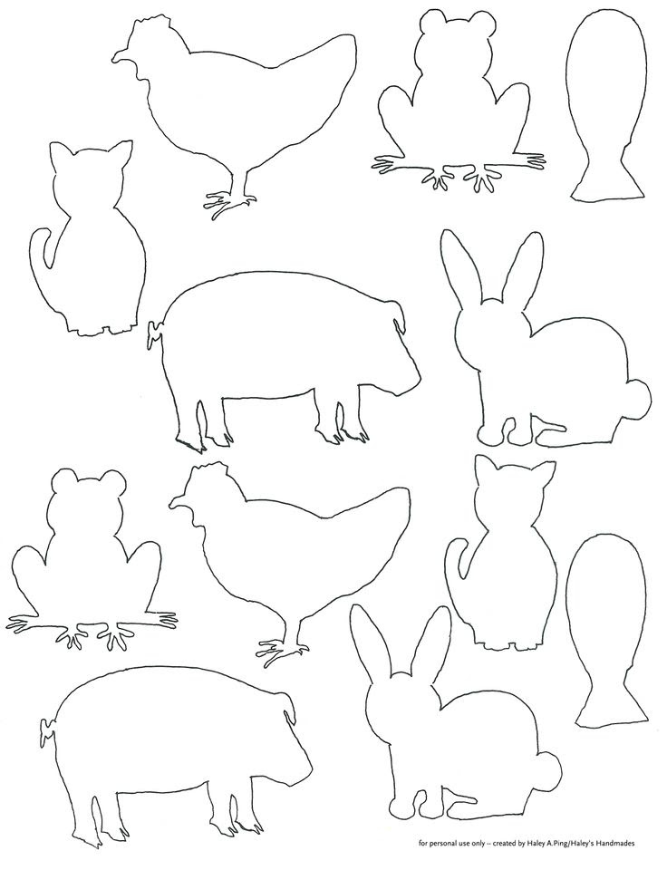 Animal Shapes To Cut Out Coloring Home Coloring Pages