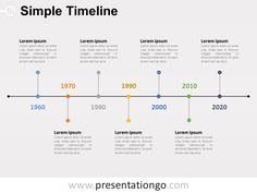 Free Vertical timeline for PowerPoint | PowerPoint Diagrams ...
