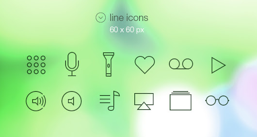 Tab Bar Icons iOS 7 Vol2 | Media Icons | Pixeden