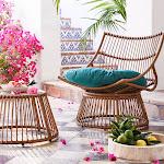 Borealis 2pc Patio Papasan Chair & Table Set - Jade - Opalhouse , Green