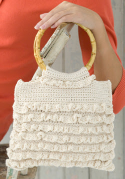 Crochet Ruffle Bag