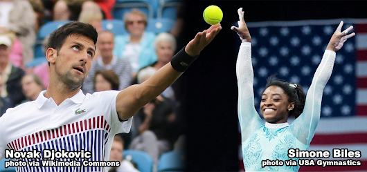 Novak Djokovic, Simone Biles Named United States Sports Academy August Athletes of the Month