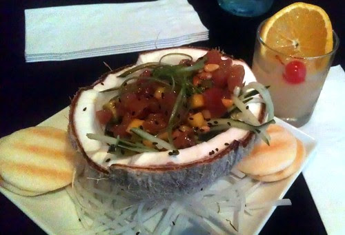Ahi in a Coconut Shell