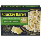Cracker Barrel Macaroni & Cheese Dinner, Sharp White Cheddar - 14 Oz box