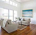 Contemporary Coastal Home - beach style - living room - other ...