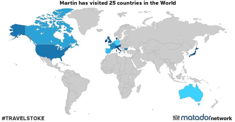 Martin's Travel Map