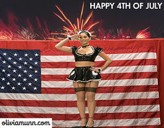 Olivia Munn happy 4th of july