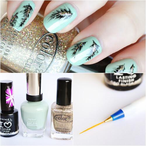 nail pen Feather nail art