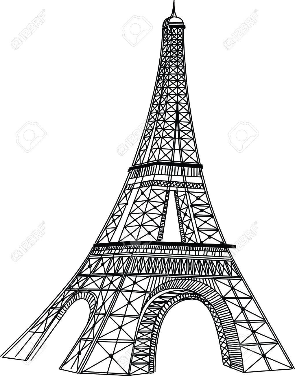 Torre Eiffel Drawing At Getdrawingscom Free For Personal Use