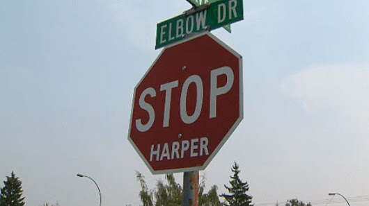Calgary stop signs defaced in a sticky situation