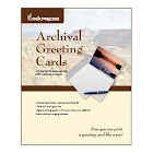 """Inkpress Archival Greeting Cards 7x10"""" Scored Greeting Card Paper 100 Sheets"""