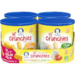Gerber Lil' Crunchies Mild Cheddar and Veggie Dip Baked Corn Snack Variety Pack