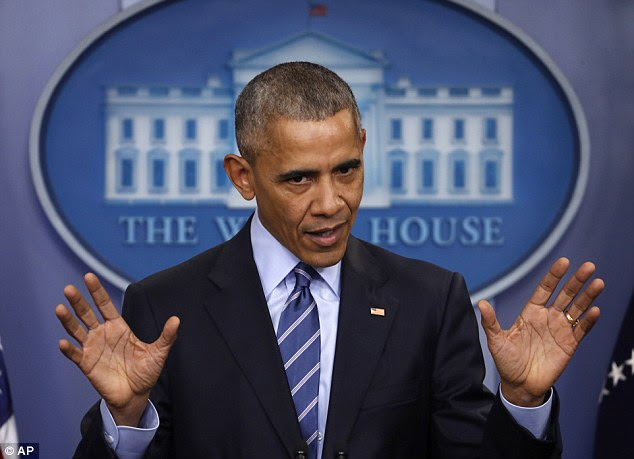 Anger: President Obama's strongly-worded statement about sanctions against Russia is his most sweeping action against the Kremlin during his eight years in office