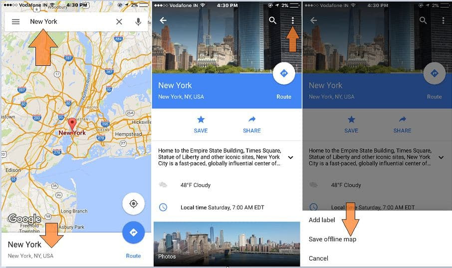 How To Save Access Google Map Offline On Iphone Ipad Ios 9
