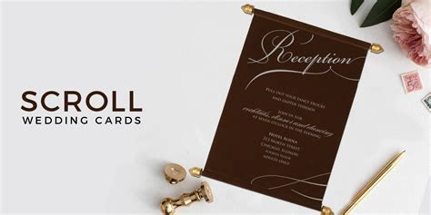 Scroll Wedding Invitations   Scroll Cards   123WeddingCards