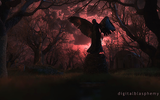 Digital Blasphemy 3D Wallpaper:  The Black Angel -- Happy Halloween 2014 (Halloween) by Ryan Bliss