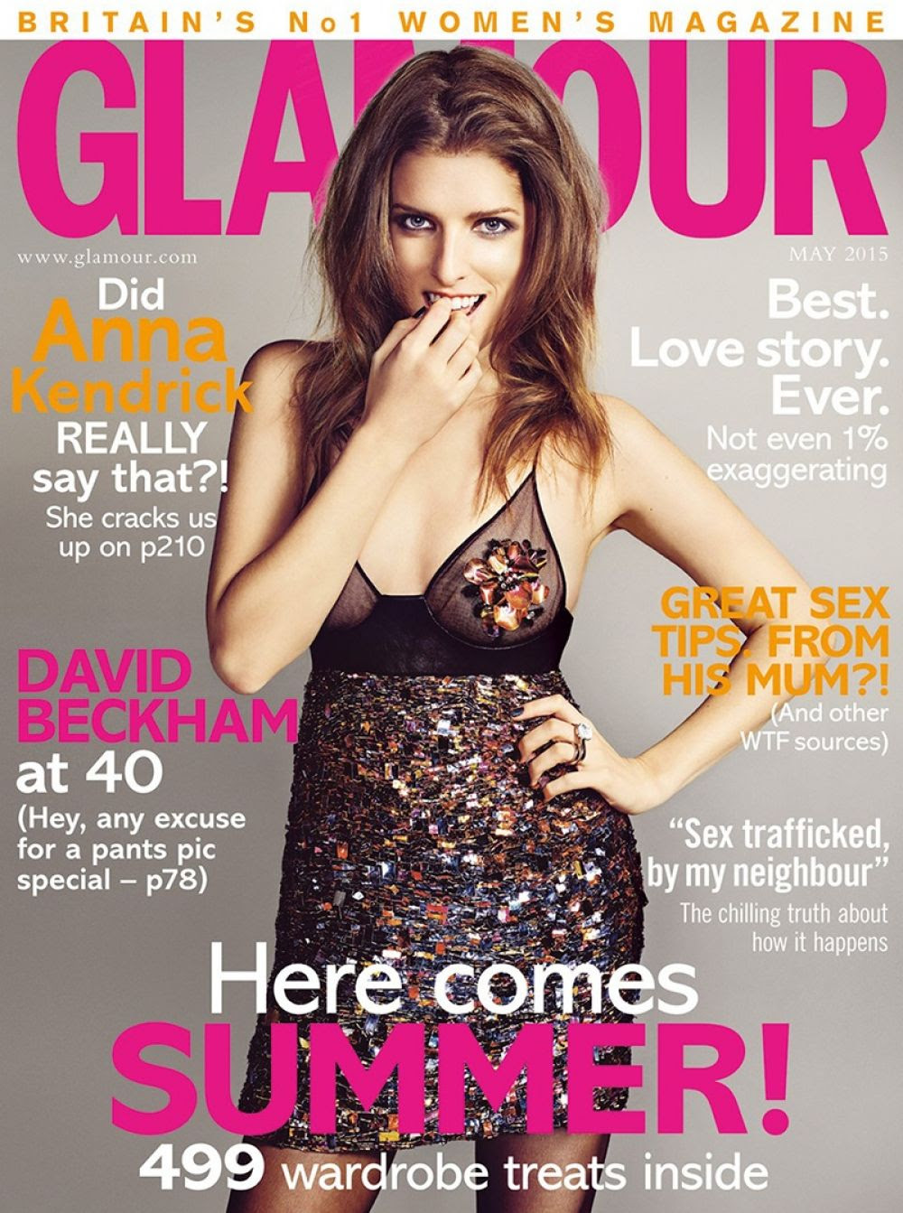 ANNA KENDRICK in Glamour Magazine, May 2015 Issue