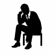 座る人 ビジネスマンシルエット イラストの無料ダウンロードサイト