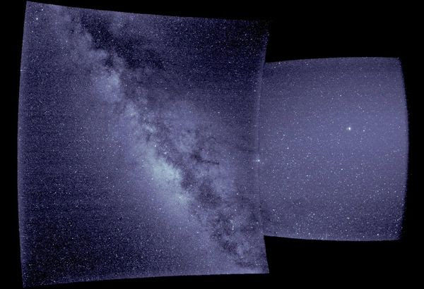 A 'first light' image of our Milky Way galaxy that was taken by the Parker Solar Probe's Wide-field Imager...on September 9, 2018.
