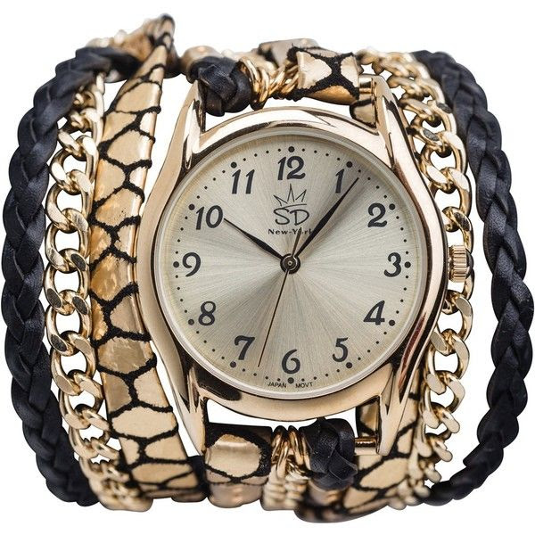 Sara designs black snake wrap watch $198