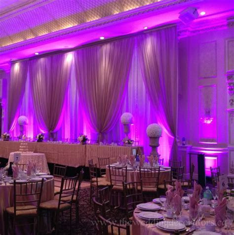 Wedding backdrop with elegant LED lighting.   Wedding