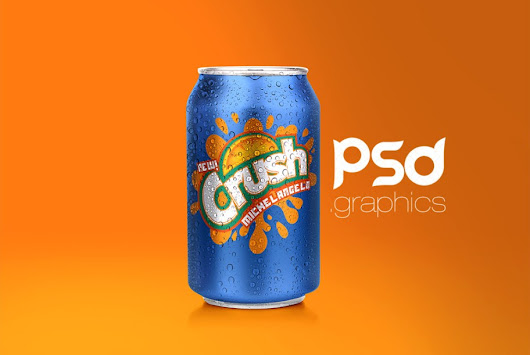 Soda Can Mockup Free PSD | PSD Graphics