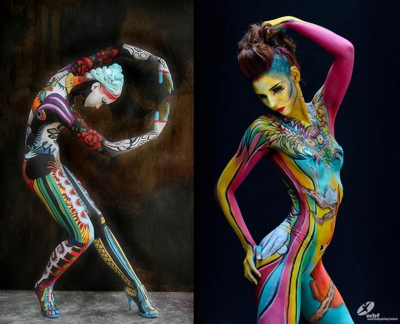 Artistas Contemporáneos De Body Painting Pintura Y Artistas