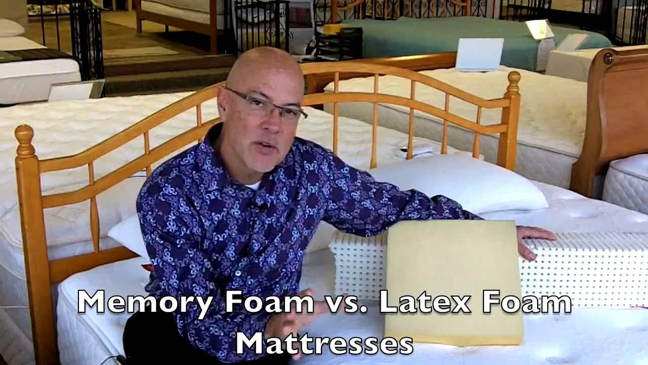 Latex vs Memory Foam Mattresses at Best Mattress Columbia, SC  YouTube