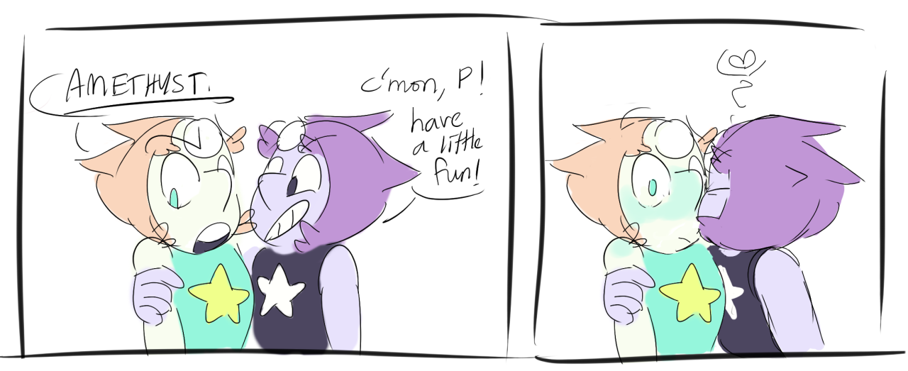 i really want pearl to love herself but i also really want amethyst to love pearl so consider this