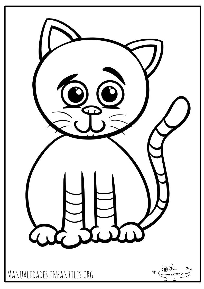 Dibujos De Gatos Para Colorear Actividades Para Ninos