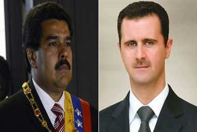 Bolivarian Republic of Venezuela President Nicolas Maduro and Syrian Arab Republic President Bashar al-Assad. Venezuela is in solidarity with Syria. by Pan-African News Wire File Photos