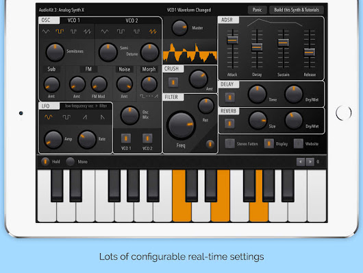 Analog Synth X is a new synth for your iPad, and it's free