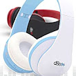 Amazon.com: dBs - the New Best Wireless Stereo Bluetooth Headphones V4.0+EDR | Foldable Headset | with Microphone | Sweatproof | Bluetooth Earphones for [Gym | Sports | Exercise | Workout | Music Streaming] for Smartphones | Cellphones | Android | Apple iPhones, iPad, iPod | Samsung | iOS | Perfect Gift for Dad Mom College Student Teacher Teenager Graduation | White and Blue: Cell Phones & Accessories
